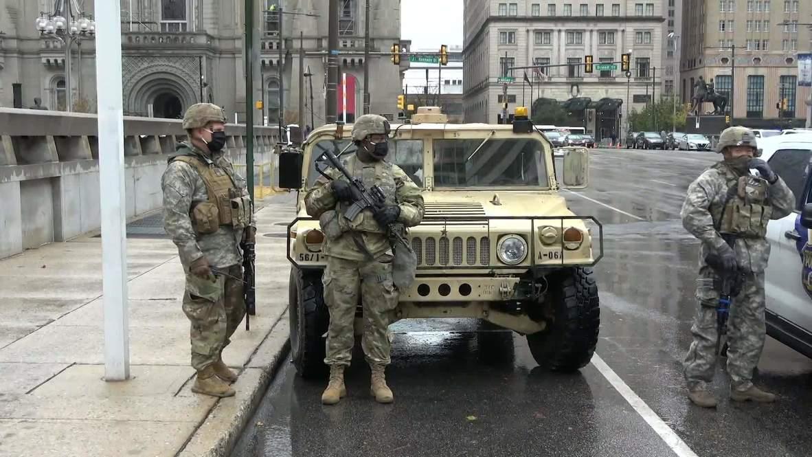 EE.UU.: Guardia Nacional se despliega en Filadelfia antes del inicio del toque de queda