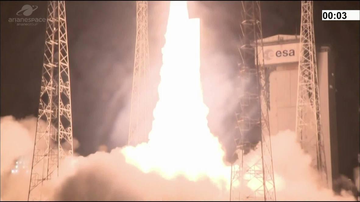Guayana Francesa: El cohete Vega se pierde 8 minutos después del lanzamiento con dos satélites a bordo