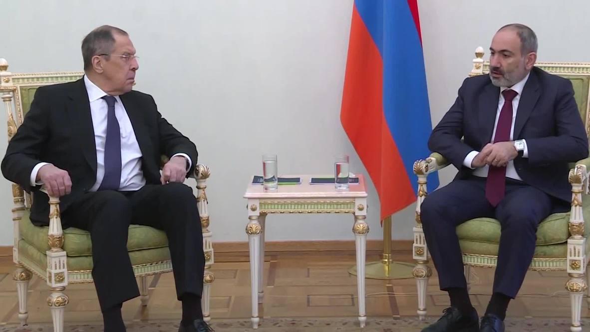 Armenia: PM Pashinyan and Russian FM Lavrov hold talks in Yerevan