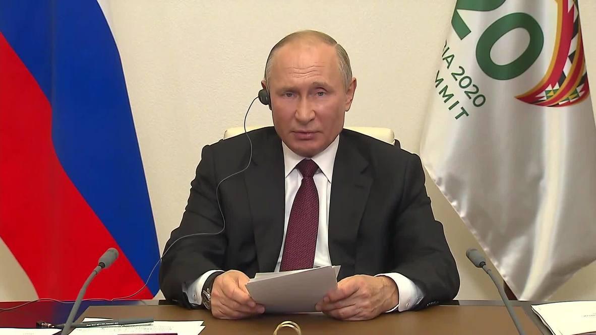 روسيا: بوتين يعلن في خطاب قمة العشرين عن استعداد موسكو لتزويد جميع البلاد بلقاح كوفيد
