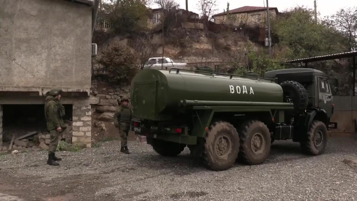 Nagorno-Karabakh: Russian peacekeepers and EMERCOM distribute water amid shortage