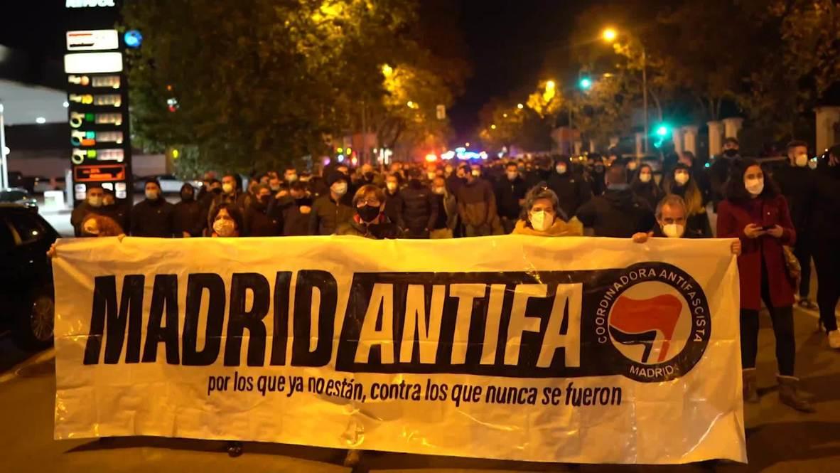 إسبانيا: مئات المناهضين للفاشية ينظمون مسيرة في مدريد في ذكرى وفاة فرانكو