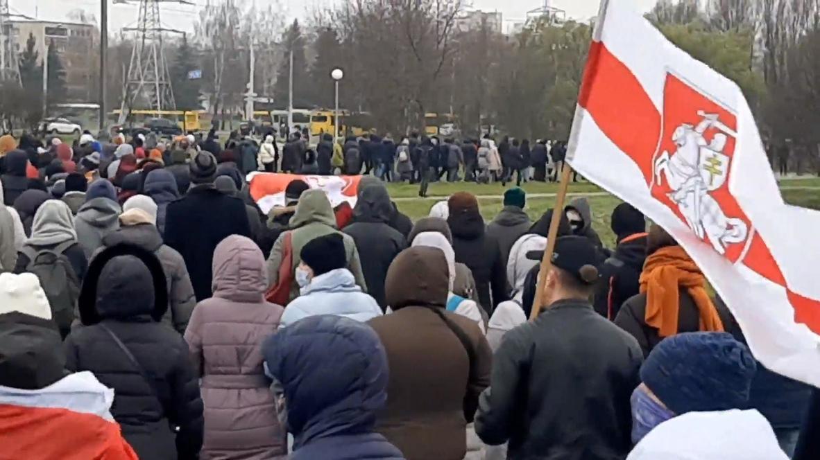 Belarus: Over 200 detained at Minsk protest