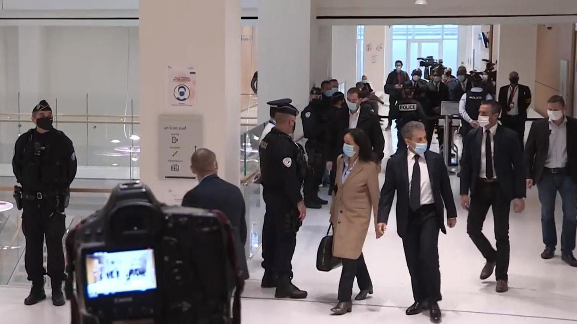 فرنسا: الرئيس الفرنسي السابق ساركوزي يمثل أمام القضاء بتهم فساد