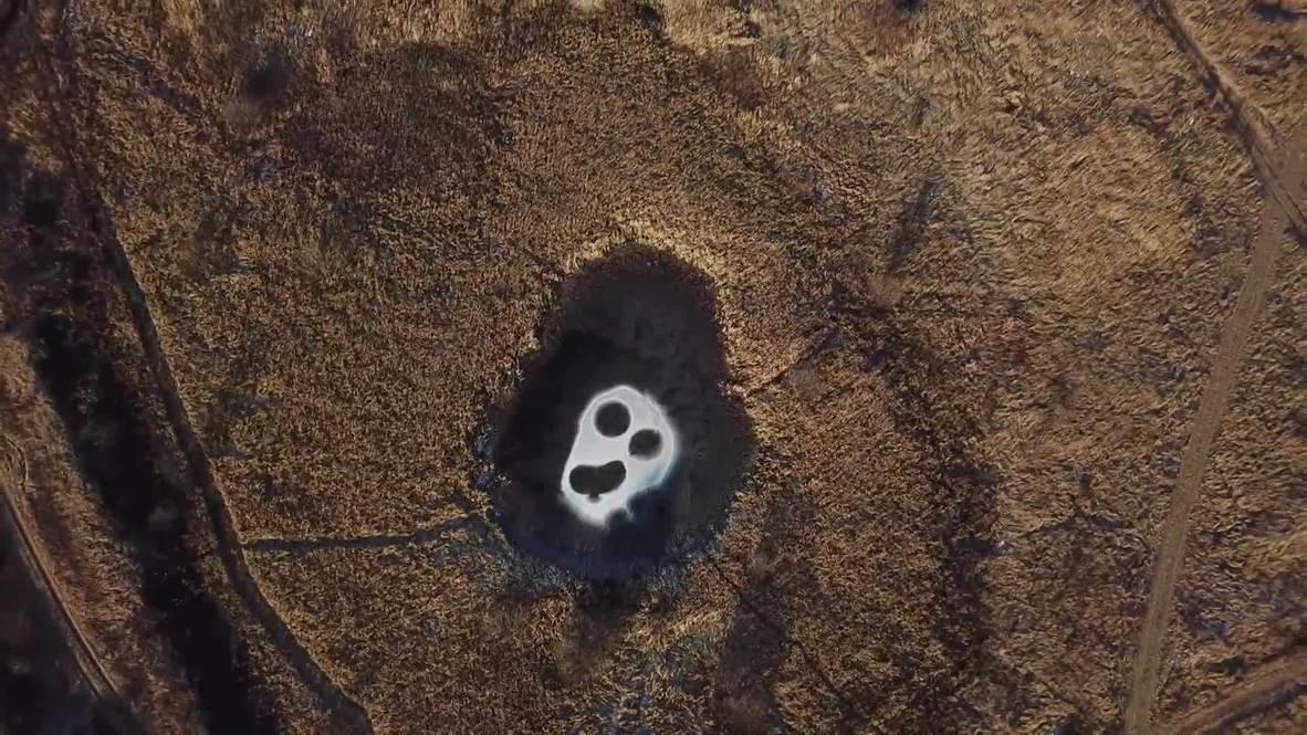 Russia: Nature paints Munch's 'Scream' on frozen lake in Nizhny Novgorod