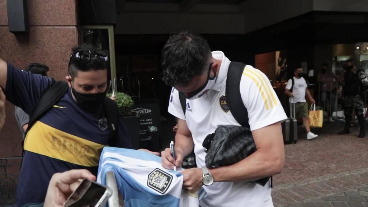 Brazil: Boca Juniors return to Argentina as team's game postponed after Maradona's death