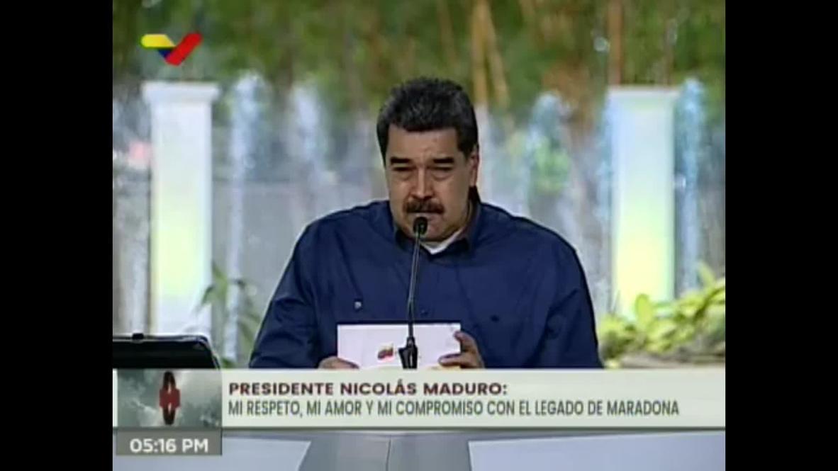 Venezuela: 'Tenía un verdadero amigo en Argentina' - Maduro lamenta la muerte de Maradona