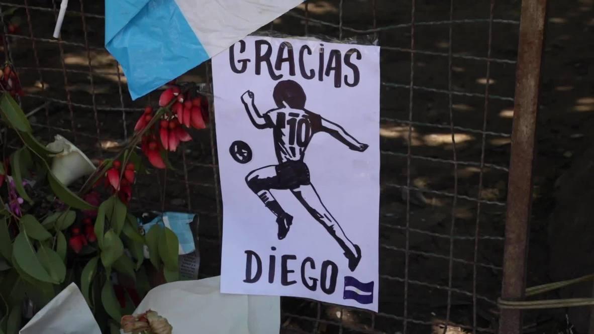 Argentina: Residentes de Villa Fiorito, ciudad natal de Maradona, lloran la pérdida de su héroe