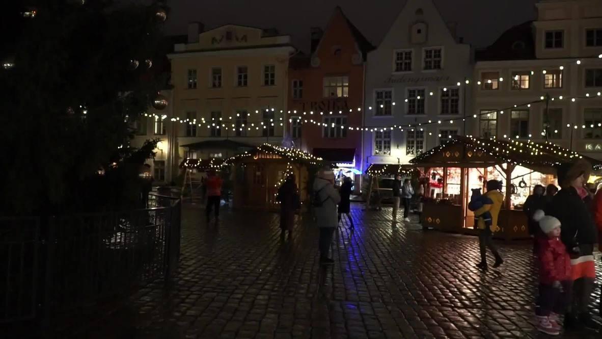 Estonia: Christmas fair opens in Tallinn amid COVID-19 restrictions