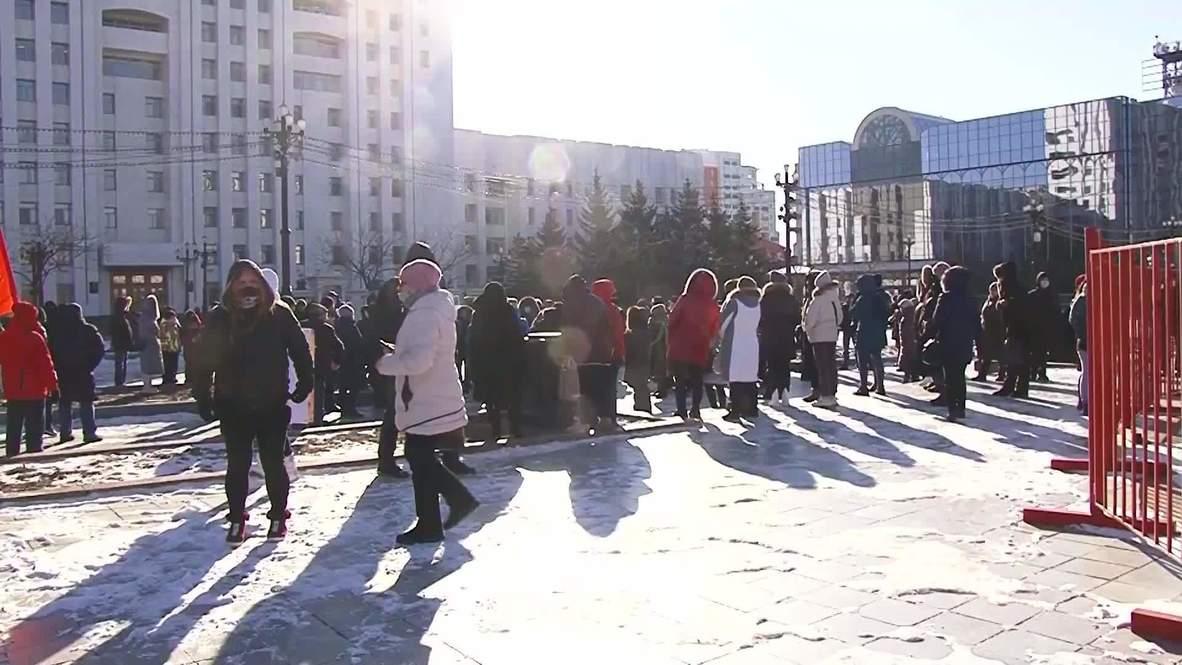 Россия: Хабаровчане вышли на субботний митинг в поддержку экс-губернатора края Фургала