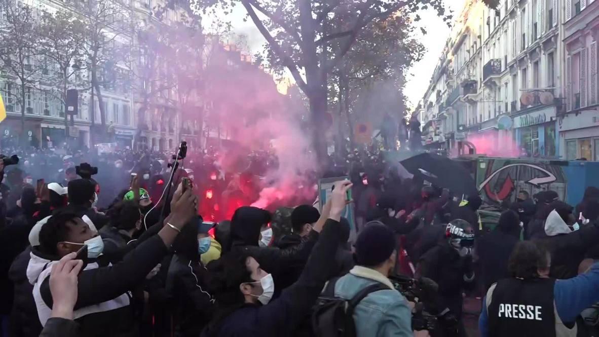 Francia: Enfrentamientos en París durante una protesta contra el proyecto de ley de 'seguridad global'