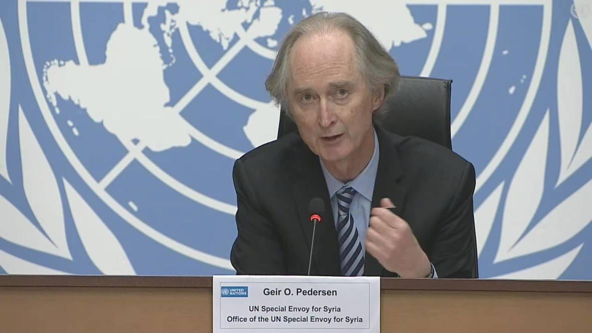 """سويسرا: المبعوث الأممي لسوريا بيدرسن: """"لم نرتق إلى مستوى توقعات الشعب السوري"""""""