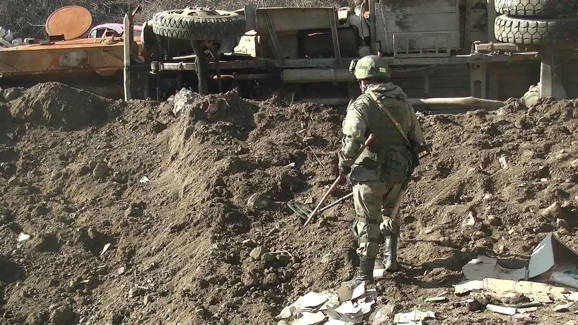 Нагорный Карабах: Российские миротворцы провели работы по разминированию местности на участке в Лачинском коридоре