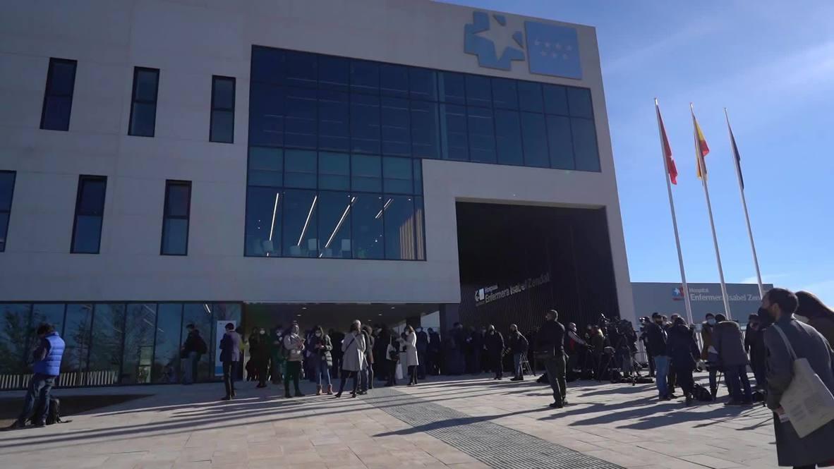 España: Madrid inaugura entre protestas un nuevo hospital de Emergencias para tratar pacientes de coronavirus