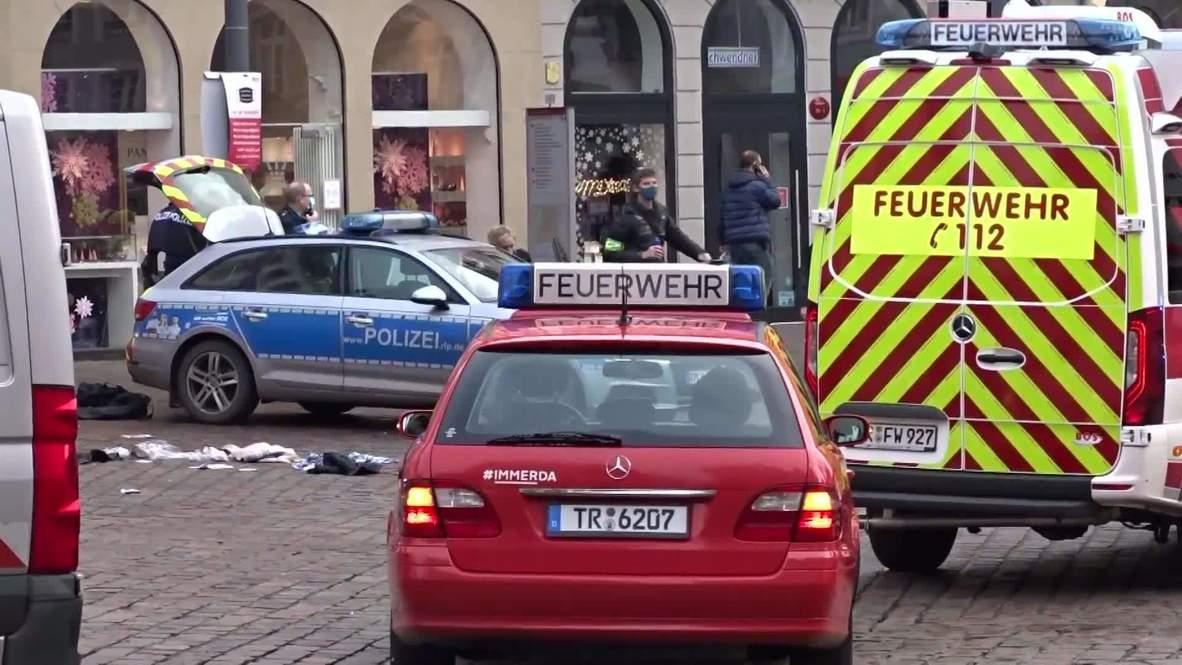 Alemania: Coche embiste una zona peatonal en Tréveris causando dos muertos y varios heridos