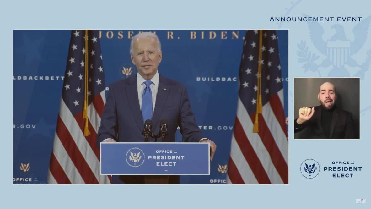 EE.UU.: Biden anuncia sus nominaciones para los principales cargos económicos