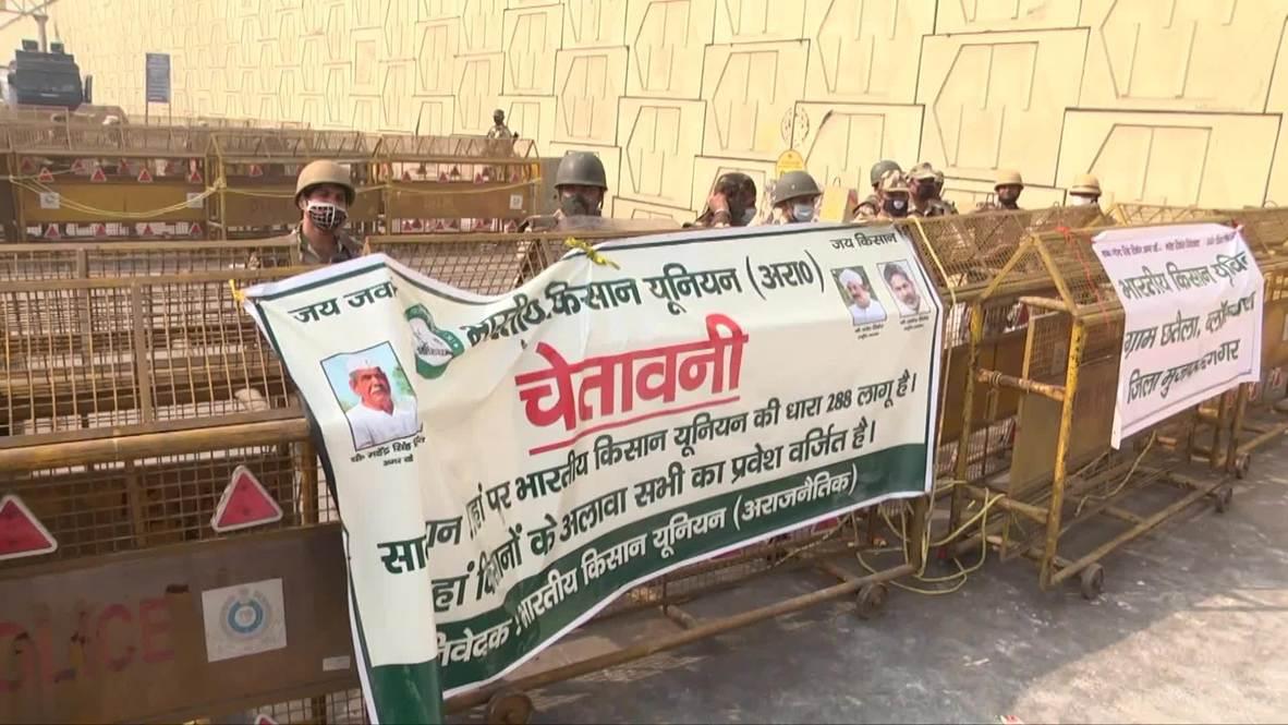 India: Police seal off Delhi-Ghaziabad border amid protest against farm bill