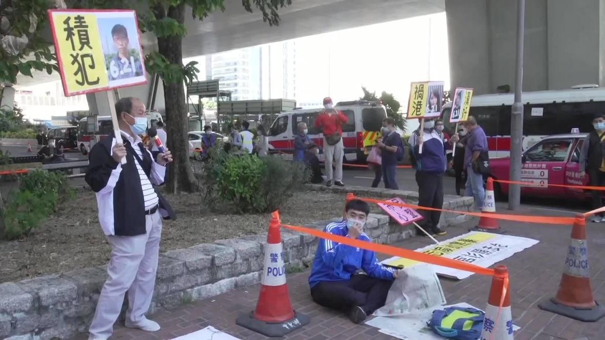 Hong Kong: Encarcelan al activista Joshua Wong en medio de protestas fuera del Tribunal