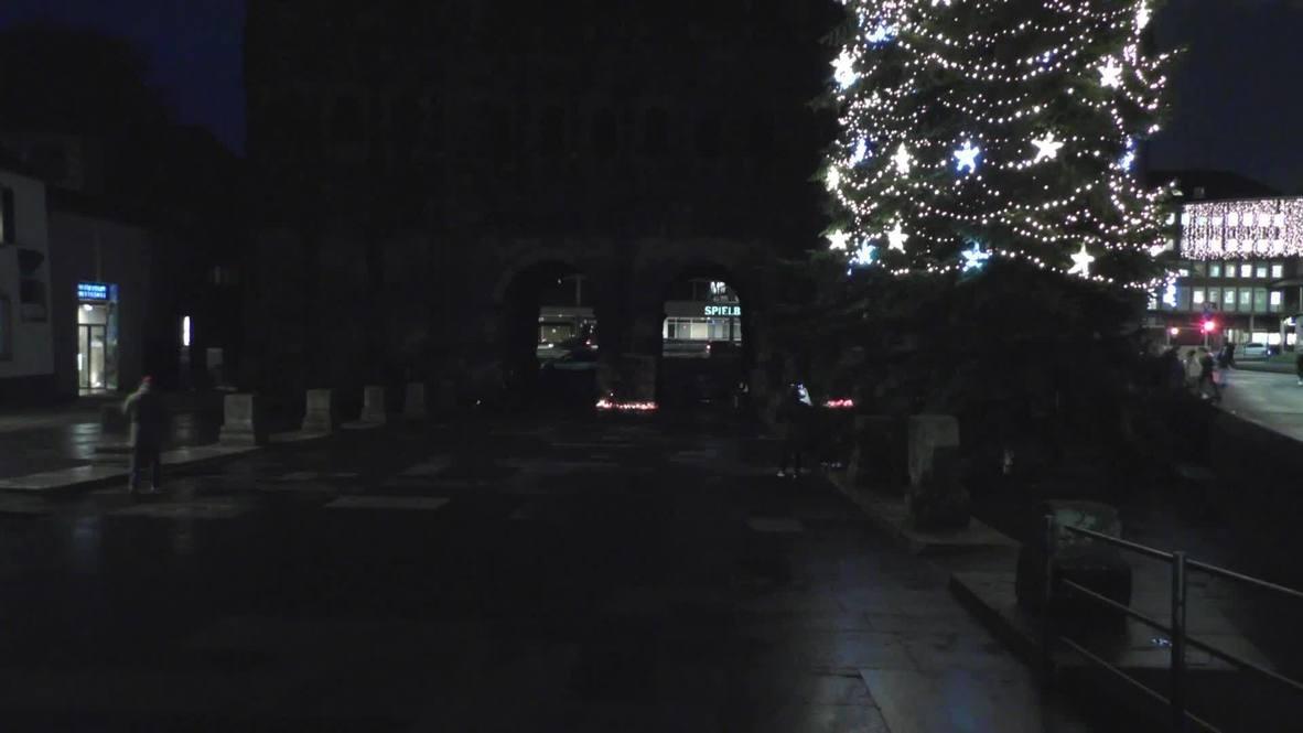 ألمانيا: سكان ترير يضيؤون الشموع تكريما لضحايا حادث دهس أودى بحياة خمسة أشخاصَ