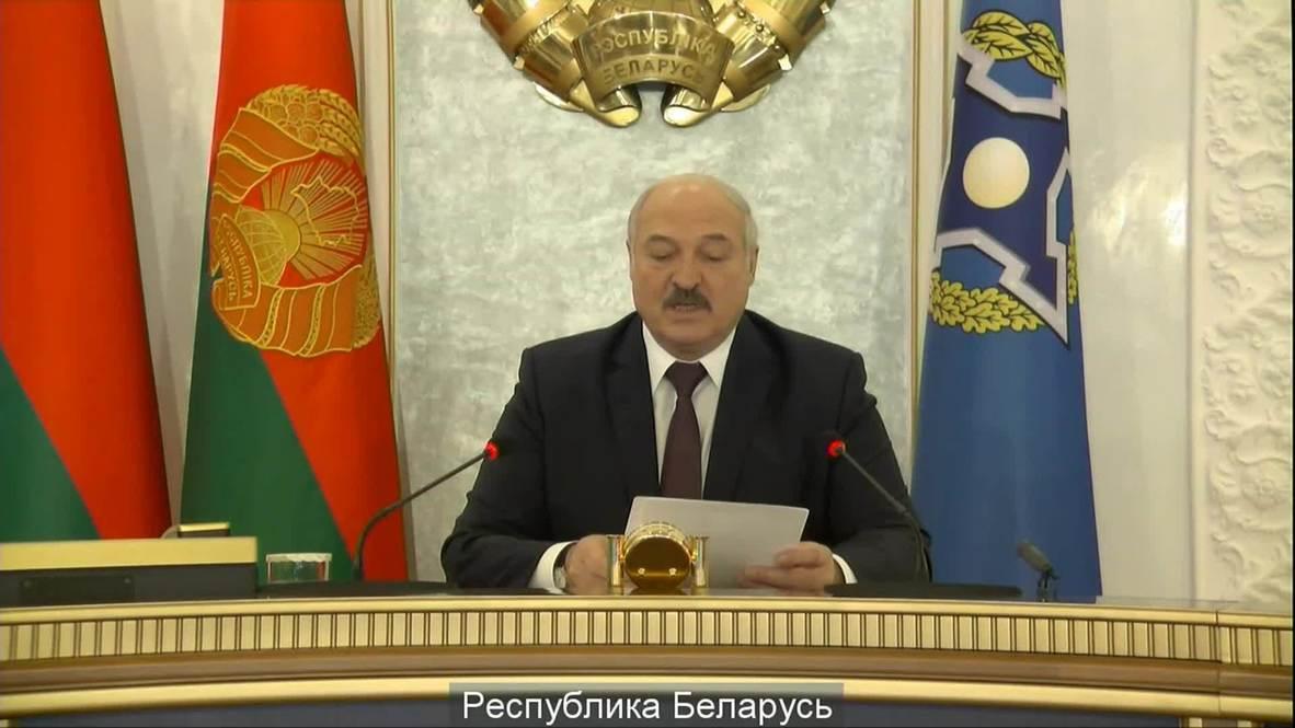 """""""Никаких цветных революций нет, это обычные мятежи"""" - Лукашенко на саммите ОДКБ"""
