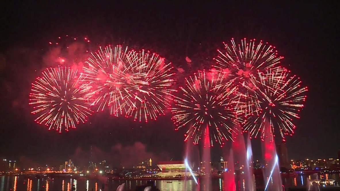 الإمارات العربية المتحدة: ألعاب نارية رائعة احتفالا باليوم الوطني للدولة في دبي