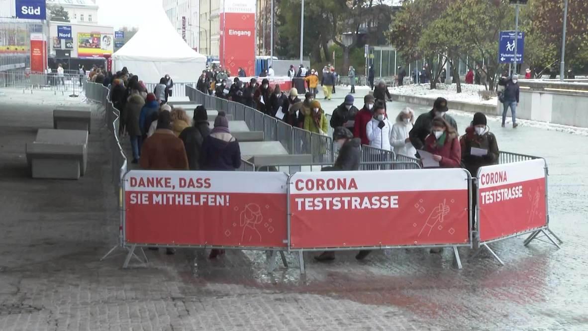 Austria: Locals queue as mass COVID testing gets underway in Vienna