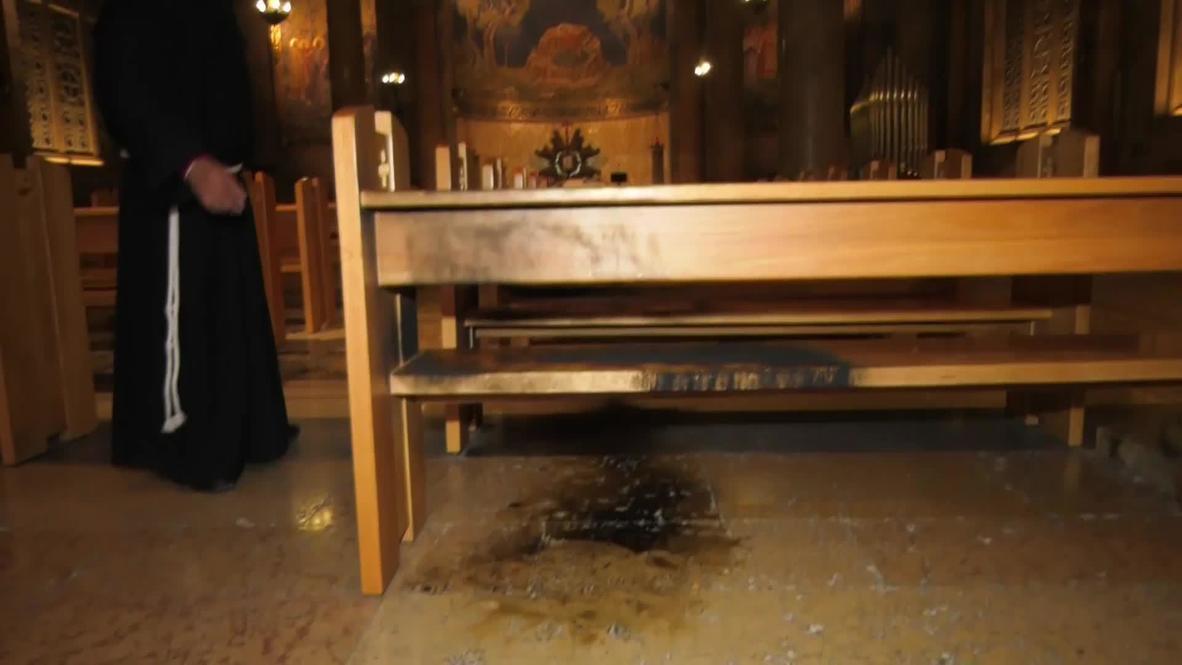 East Jerusalem: Police arrest suspect after arson attack at church next to Garden of Gethsemane
