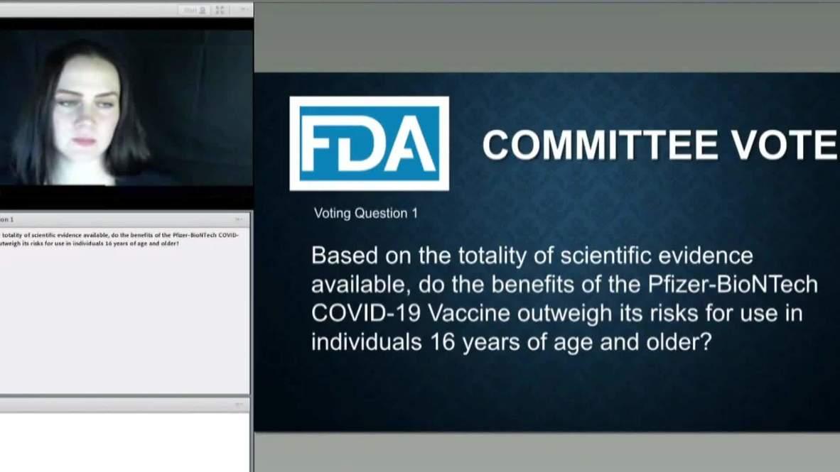 EE.UU.: Panel de la FDA vota a favor de que se autorice uso de emergencia de la vacuna de Pfizer