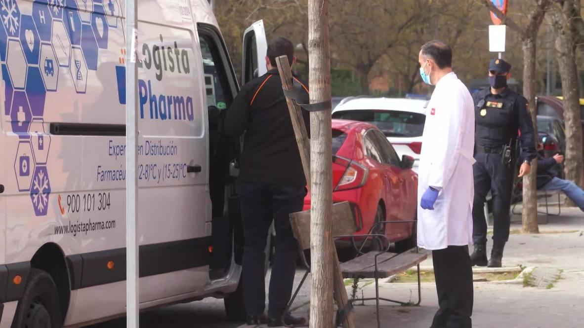 España: Las vacunas contra el covid-19 llegan a las residencias de ancianos de Madrid