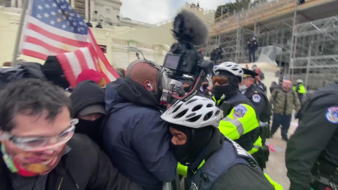 الولايات المتحدة الأمريكية: لقطات تكشف لحظة اقتحام مبنى الكابيتول