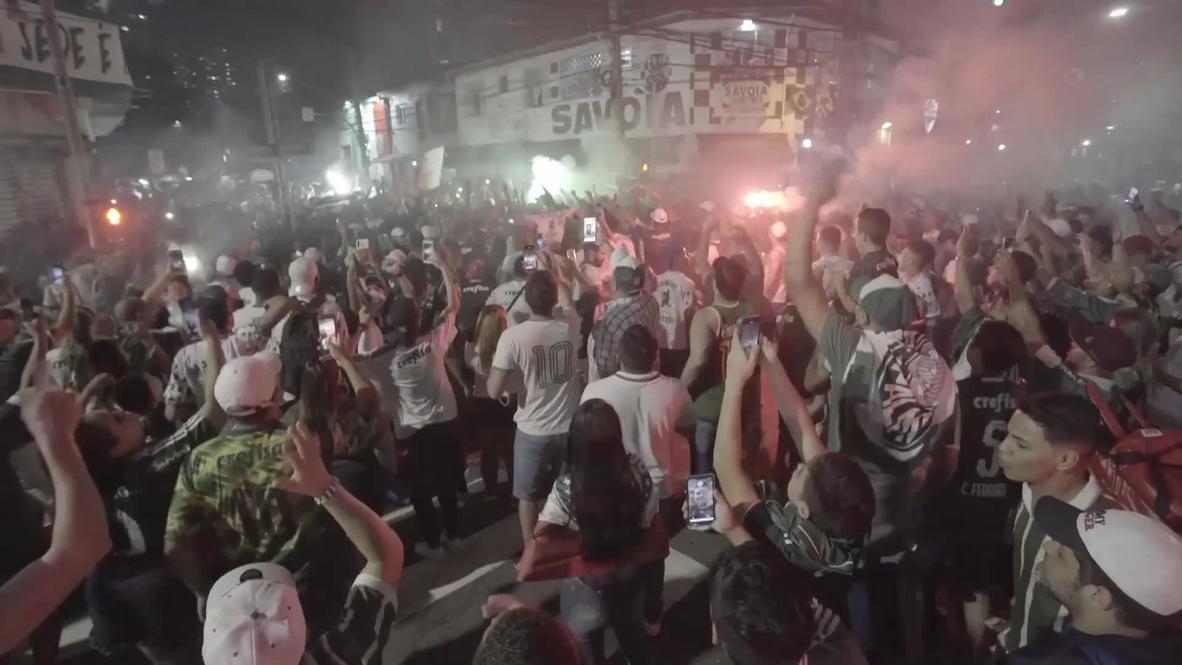 Brazil: Massive crowds flood Sao Paulo streets as Palmeiras reach Libertadores final