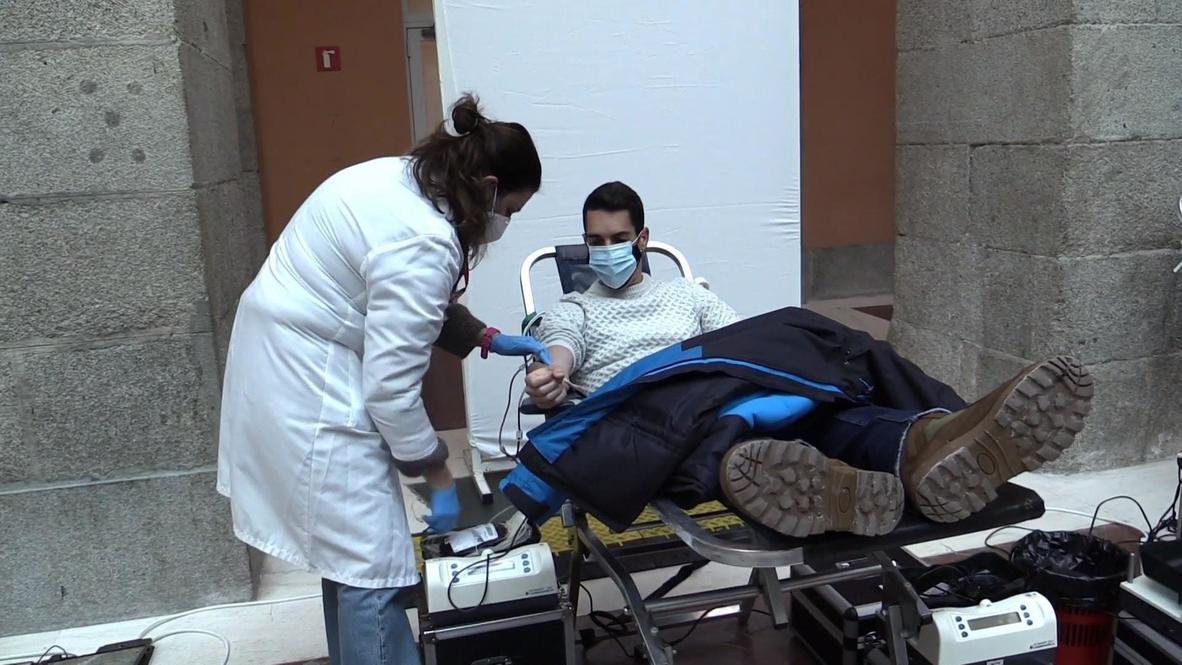 Spain: Volunteers donate blood to restore depleted Madrid reserves