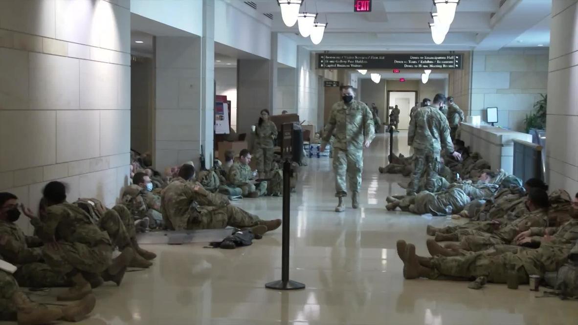 الولايات المتحدة الأمريكية: نشر قوات الحرس الوطني في مبنى الكابيتول لتأمين تنصيب بايدن رئيسا
