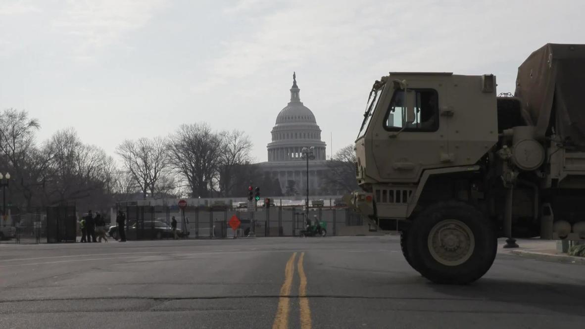 США: Охрана Капитолия усиливается перед инаугурацией Байдена