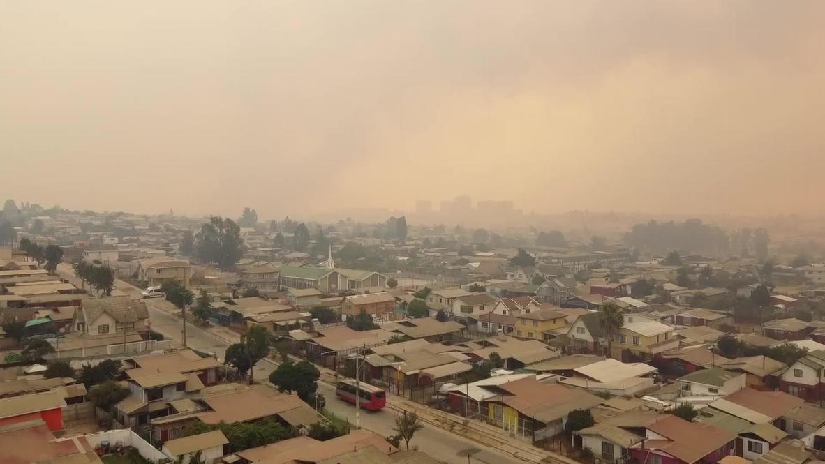 Chile: Ordenan la evacuación de miles de personas por los incendios forestales en Valparaíso
