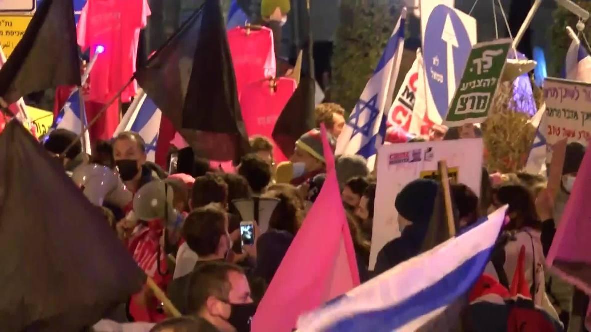 إسرائيل: مئات المناهضين لنتنياهو يتظاهرون خارج مقر إقامته في القدس
