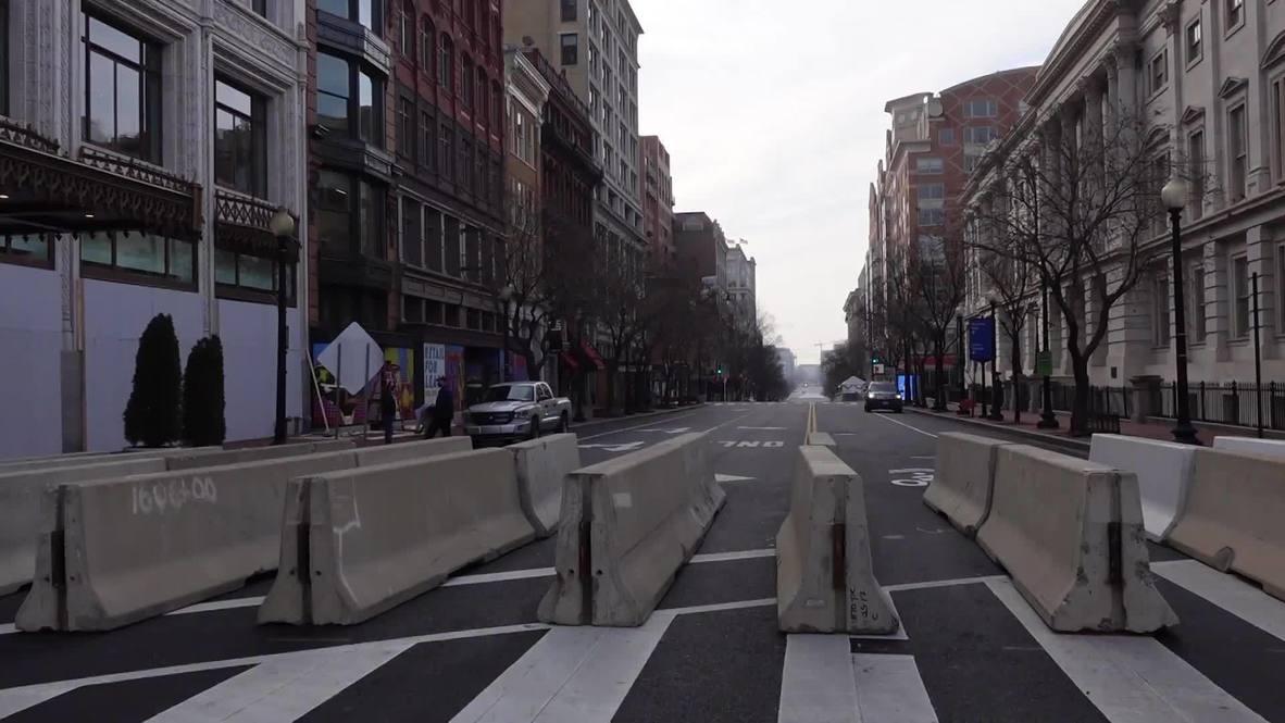 EE.UU.: Calles desiertas en Washington D.C. y fuertes medidas de seguridad para la inauguración de Biden