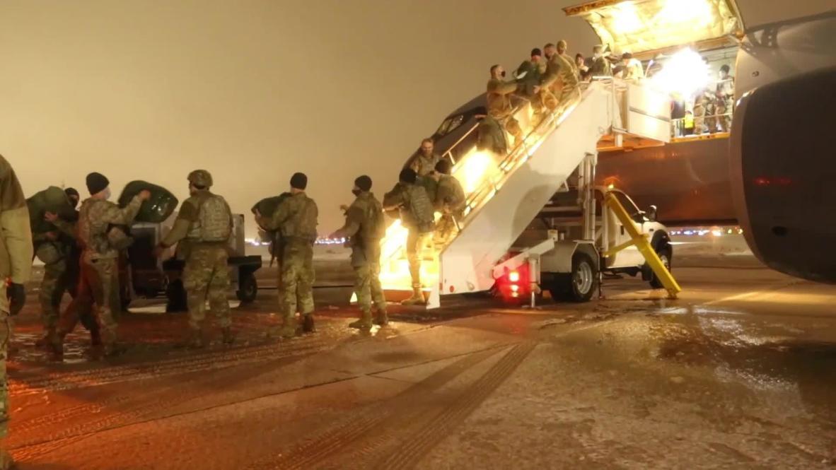 США: Около 500 солдат нацгвардии направились из Висконсина в Вашингтон для обеспечения безопасности на инаугурации Байдена