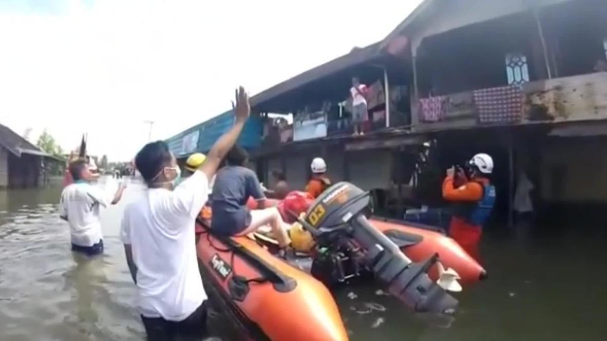 Indonesia: Miles de personas desplazadas por las inundaciones en Kalimantan del Sur