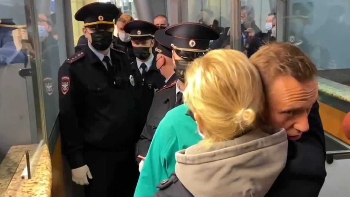 Rusia: Detienen a Navalny en el aeropuerto de Sheremetyevo