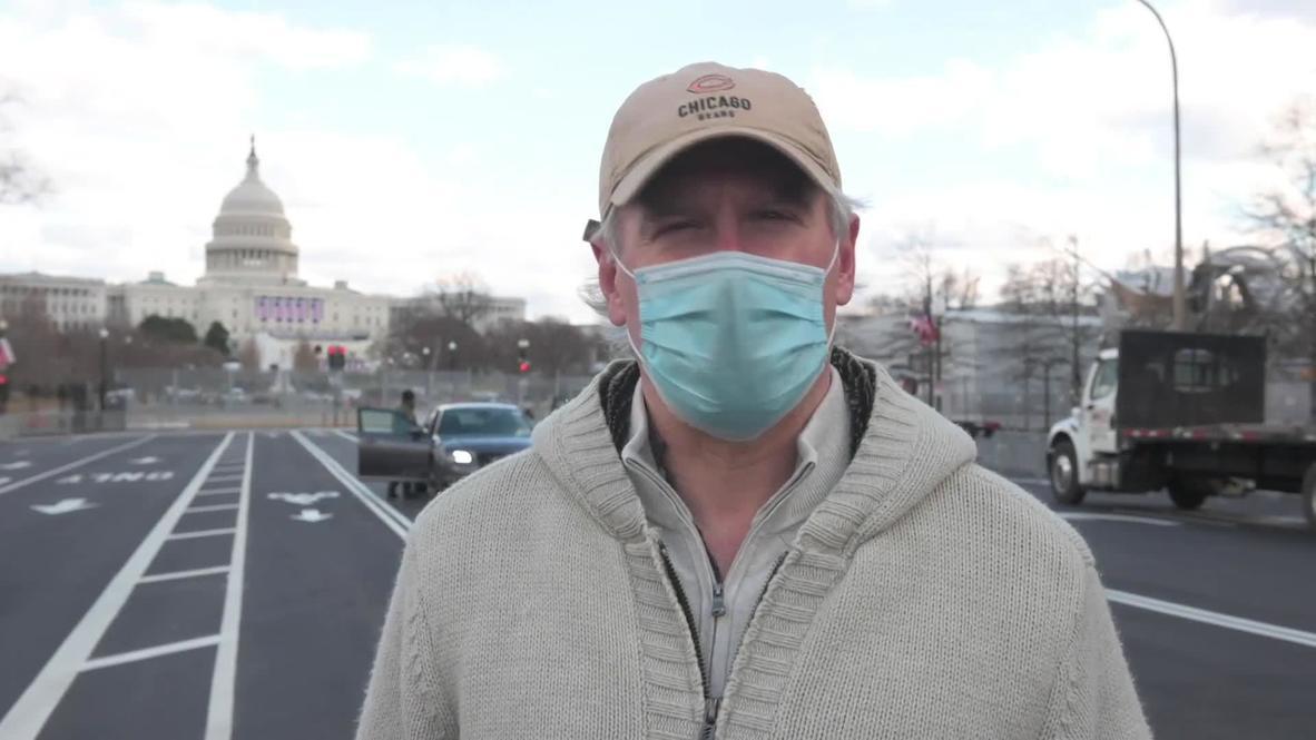 """EE.UU.: """"Es un mensaje poderoso"""" – Locales opinan sobre las medidas de seguridad en Washington D. C."""