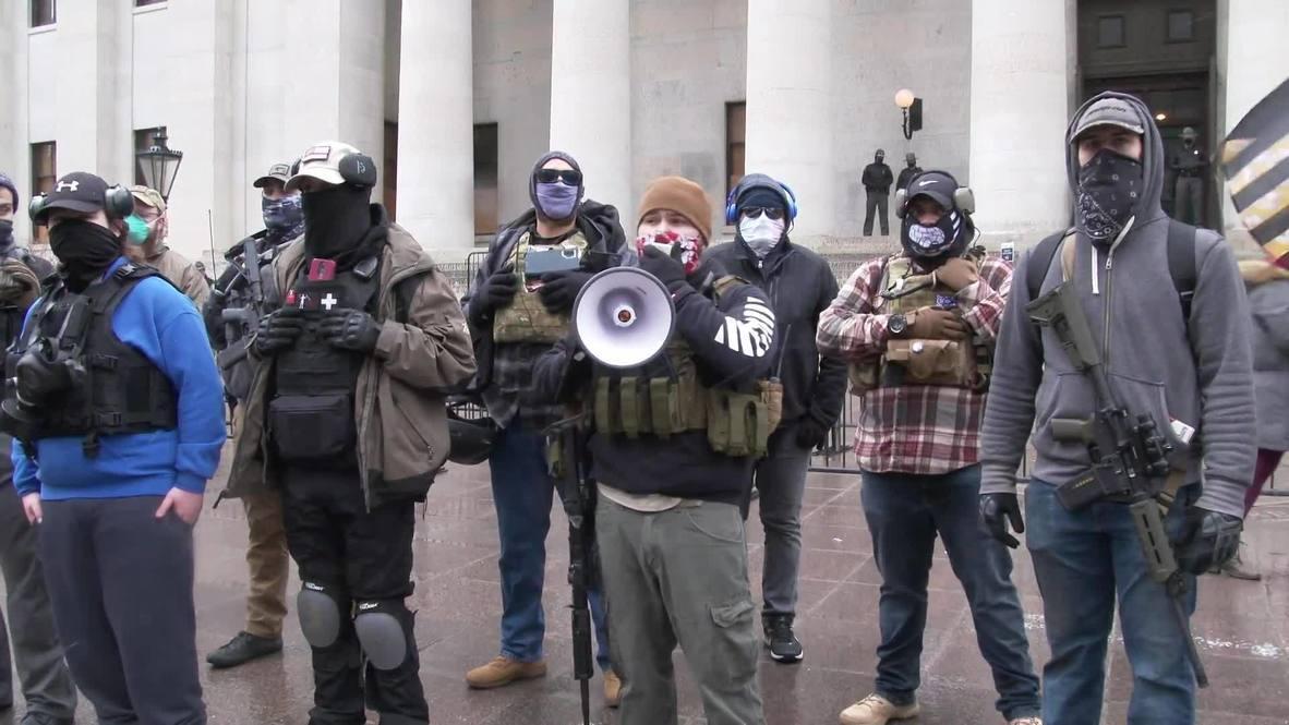الولايات المتحدة الأمريكية: متظاهرون مسلحون يتجمعون في أوهايو قبل تنصيب بايدن