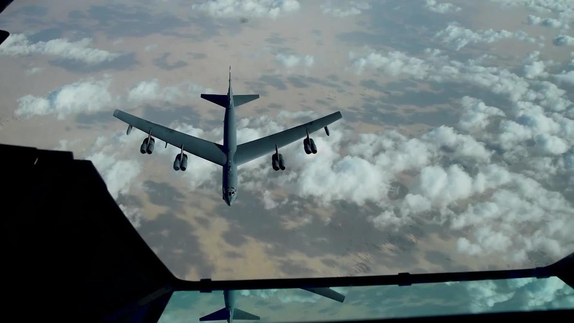 المجال الجوي الدولي: قاذفة أمريكية من طراز B-52 تحلق فوق الشرق الأوسط وسط استمرار التوترات مع إيران