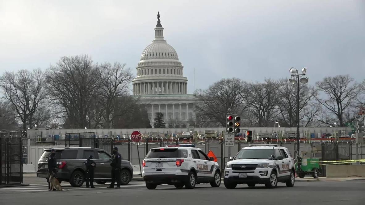 """EE.UU.: Ensayo para la toma de posesión de Biden es interrumpido por """"amenaza de seguridad externa"""" en Washington DC"""