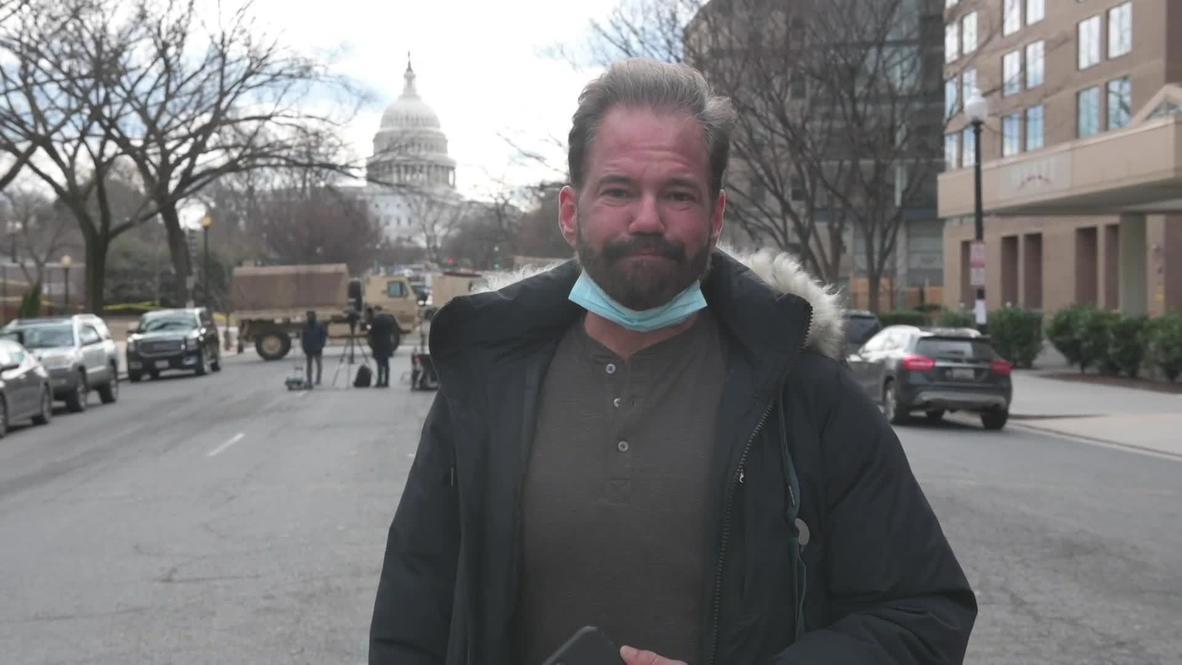"""EE.UU.: """"Es muy extraño"""" - residentes de Washington y despliegue de seguridad de cara a toma de posesión de Biden"""