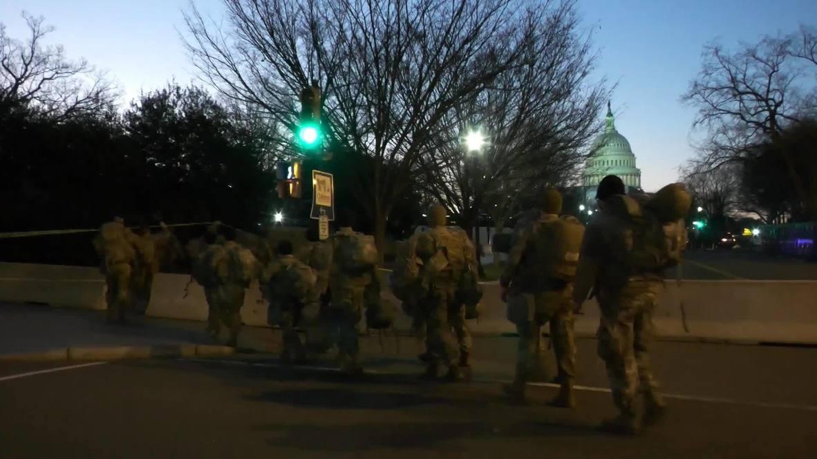 EE.UU.: Despliegan tropas de la Guardia Nacional en Washington ante la ceremonia de investidura de Biden
