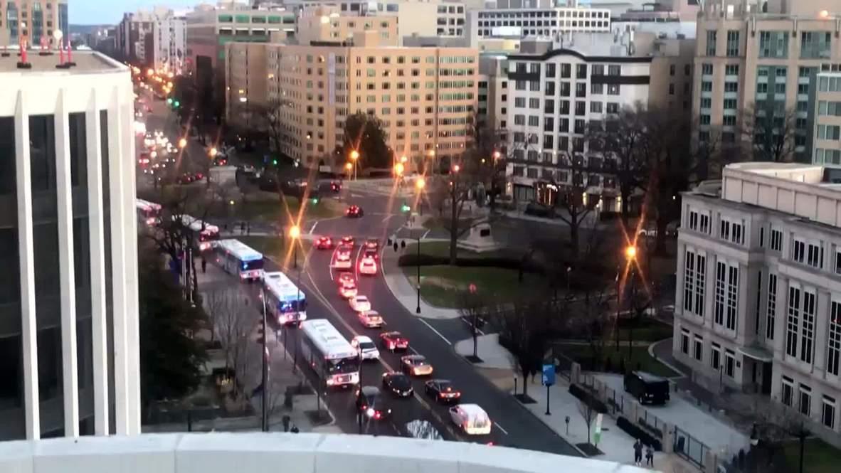 EE.UU.: Policías de NY refuerzan la seguridad en Washington D.C. antes de la inauguración de Biden