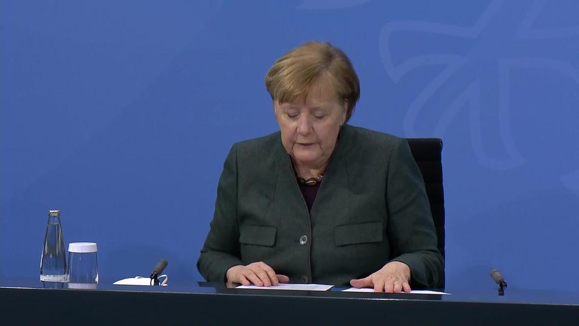 Alemania: Merkel anuncia extensión del confinamiento en medio de temores por variantes del covid