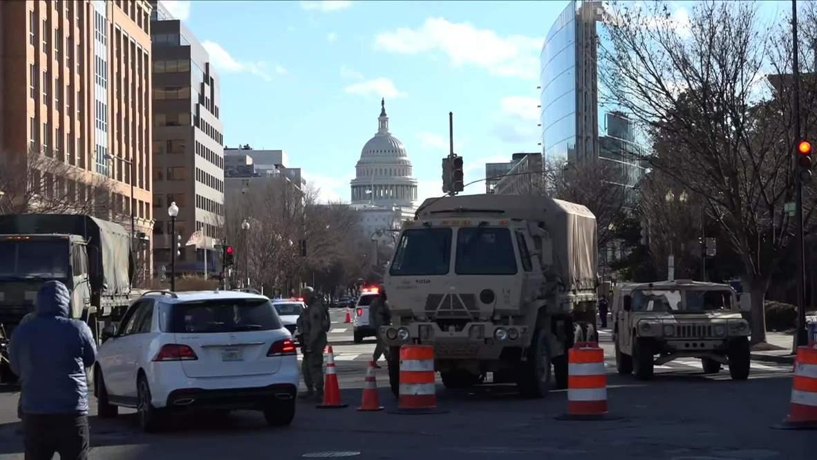 الولايات المتحدة الأمريكية: تواجد كثيف للحرس الوطني والشرطة في العاصمة قبل حفل تنصيب بايدن
