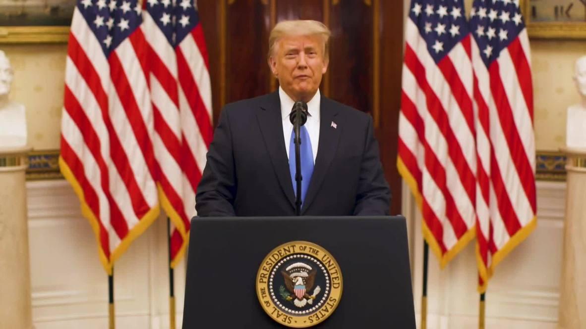 """الولايات المتحدة الأمريكية: ترامب يعرب عن """"أطيب التمنيات"""" لـ """"الإدارة الجديدة"""" في خطاب الوداع"""